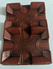 Vintage Syroco Wood Brand  Playing Card Deck Caddy