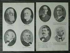 USA) 2x Cincinnati 1909 1910 Persönlichkeiten E Roth R Alter Jeff Livingston +++