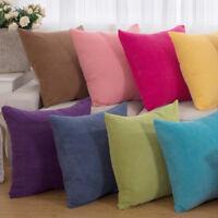 43*43cm Corduroy Linen CushionCover Soft Square Pillow Case Sofa Room Home Decor