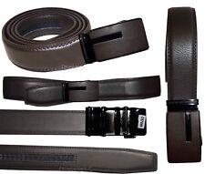 "Lot of 2. Men's Belt. Brown Automatic lock belt Size 44-46"" Dress & Casual belt"
