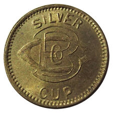 """(1909-15) Caille Bros Co """"Silver Cup"""" Slot Machine Token, Detroit Michigan 1910s"""