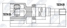 ANTRIEBSWELLE RECHTS FORD FOCUS II, FOCUS C-MAX 1.6TDCI/1.8TDCI 10.03- NEU !