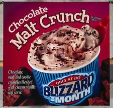 Dairy Queen Promotional Poster For Backlit Menu Sign Chocolate Malt Crunch dq2