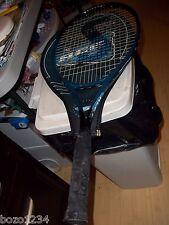"Spalding Ace Oversize Tennis Racquet 4 1/2"" Grip Ytin w Cover Euc Racket"
