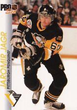 JAROMIR JAGR, PITTSBURGH PENGUINS, RARE 1992-1993 NHL PRO-SET CARD.