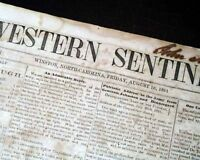 Rare CONFEDERATE Civil War Winston NC North Carolina 1861 Southern Old Newspaper