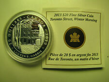 2013 Proof $20 Group of Seven #4-Toronto Street-Lawren S Harris COIN&COA ONLY Ca