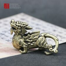 Chinese Traditional Dragon Brass Figurine Figure Miniature Home Ornament keyring