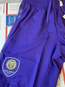 Orlando city MLS Soccer home shorts authentic DP4789 Purple Size Small.