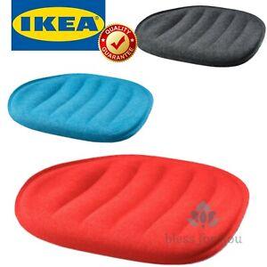 "IKEA PYNTEN Seat Pad Gray Blue Red 16 ¼x17 """