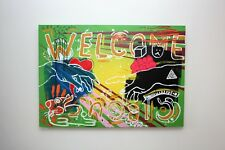 """Original Modern Surrealism Art Painting on Large Canvas """"Welcome Circus"""""""