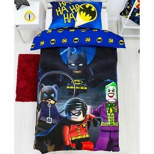 LEGO Batman Single Bedding Set Reversible Duvet Cover DC Superheroes Challenge