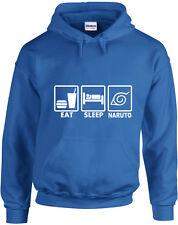 Eat Sleep Naruto, Naruto inspired Printed Hoodie Men Women Hoody Soft Sweatshirt