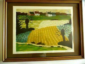 ANDRE' EVEN-Mid Century Modern Landscape Print-1950's-70's-Signed/number #59/275