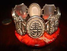 Amazing Antique/Vintage Asian Sterling Silver Bracelet.925 (47g)