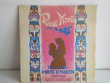 "MAXI 12"" Rose Marie Theatre Porte St Martin JEAN PAUL CAFFI / BACHMANN / DROUET"