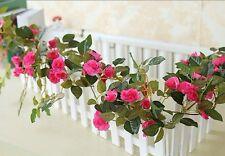 "2 Artificial Flower Vine Hanging Garland ( 70"" Rosa Multiflora)"