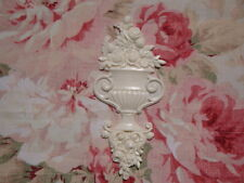 Shabby & Chic Flexible Ribbon Roses Urn Vase Furniture Applique Architectural