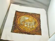 Jeweled Cotton Quilted India Fabric Square Sequins Elephant Pillow Cover?
