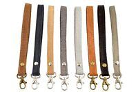 leather wrist strap,leather purse,clutch or small bag detachable wristlet strap