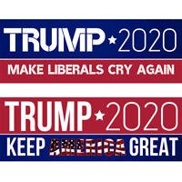 10PCS/Set Bumper Stickers Trump 2020 Keep America Great Make Liberals Cry Again