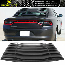 Fits 11-21 Dodge Charger Ikon Style ABS Rear Window Louver Cover Vent Black
