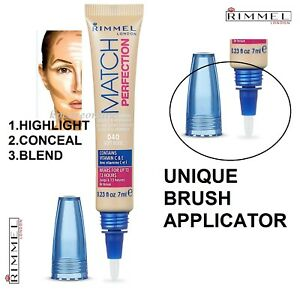 Rimmel Match Perfection 2 in 1 skin tone adapting  Concealer 040 Soft Beige 7ml