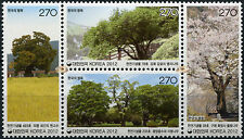 Korea South. 2012. Old & historic Trees 4th Series (MNH OG) block of 4 stamps