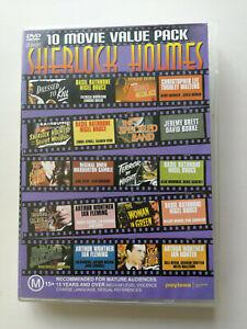 Sherlock Holmes 10 Movie Value Pack 4 disc set all regions FREE POSTAGE