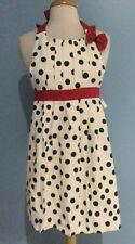 NEW Anthropologie Polka Dot Pleats Retro Apron Red/Black/Ivory