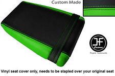 BLACK L GREEN VINYL CUSTOM FOR KAWASAKI ZXR ZX R 400 88-90 REAR SEAT COVER ONLY