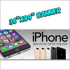 CELL PHONE REPAIR BANNER iphone android tablet computer pc mac we fix phones 7ft