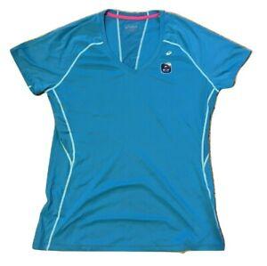 Asics Women's Favorite SS Tee Atomic Blue WR1648 UPF50+ Anti Odor Size XL