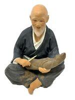 Vintage Asian Japanese Hakata Urasaki ClayDollFigurine Carving Man Geisha Doll