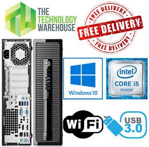 HP ProDesk 400 PC Computer i5 Quad Core CPU Up To 32GB Ram +SSD & Windows 10 Pro