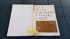 US Army Bestand: A La Rules For Filing Catalog Cards - Pauline A. Seely