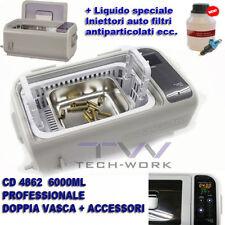 PULITORE VASCA ULTRASUONI LAVATRICE CD 4862 ULTRASONIC CLEANER 300W INIETTORI