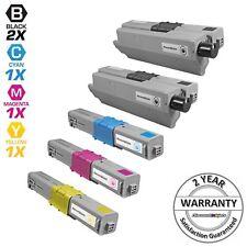 5p Comp Toner Cartridge Set for Okidata Type C17 Oki C330 C530 MC361 MC561 Black