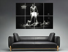 Mohamed Ali VS Sonny Liston Mural  Wall Art Poster Grand format A0 Large Print
