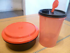 Tupperware Free Shipping New Set 2: Tumbler 1 L Container 4 cups Red and Black