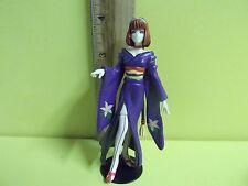 "Bandai Sega Sakura Wars Sumire Kanzaki 4""in Mini PVC Figure Purple Dress Nice!!"