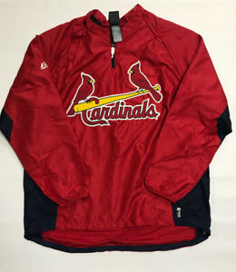 St. Louis Cardinals Majestic Lightweight Jacket XXL New Removable Sleeves
