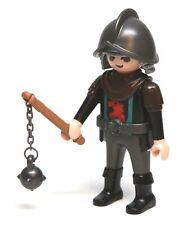 Playmobil Figure Castle Robber Knight w/ Falcon Crest Helmet Flail 4869