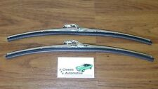 Windshield Wiper Blades w/ Polished Stainless Holder pair *In Stock*