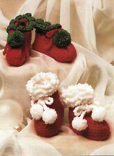 SANTA Booties/Cherries Baby Sweater/Cap/CROCHET PATTERN INSTRUCTIONS ONLY