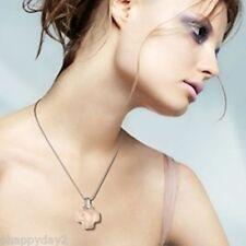 signed Swarovski~ Clear Crystal CROSS~ Pendant~ necklace~ chain & cord~ NIB~$145