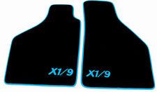 Fußmatten für Fiat X1/9  Velour Schwarz Logo X1/9 Orange
