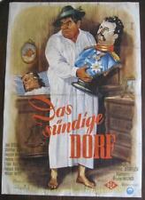 Filmplakat EA A1  Das sündige Dorf  1954  Joe Stöckel, Günther Lüders  1.
