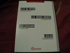 COF 4 DVD NF FLIC OU VOYOU / LES SOEURS BRONTE / DON GIOVANNI / LOULOU""