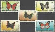 Timbres Papillons Niger 625/9 o lot 10484